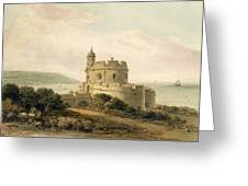 St Mawes Castle Greeting Card by John Chessell Buckler