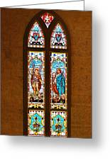 St Michael And St Raphael Greeting Card by Christine Till
