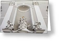 St Michael Church Sculptures In Budapest Greeting Card by Artur Bogacki