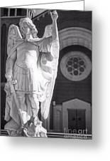 St. Michael The Archangel Greeting Card by Brian Druggan
