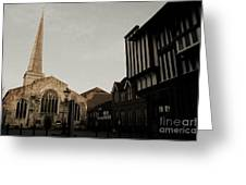 St Michaels Square Southampton Greeting Card by Terri  Waters
