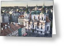 St Nicholas Prague Greeting Card by Joan Carroll