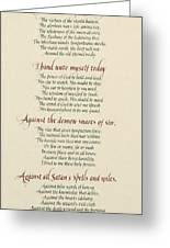 St Patrick's Breastplate Greeting Card by Judy Dodds