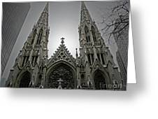 St. Patricks Cathedral  Greeting Card by Angela Wright
