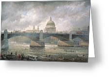 St. Paul's Cathedral From The Southwark Bank Greeting Card by Richard Willis
