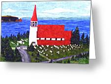 St. Philip's Church Greeting Card by Barbara Griffin