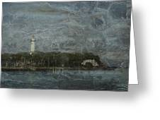 St. Simons Island Lighthouse Greeting Card by A R Williams