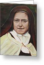 St. Therese Of Lisieux Greeting Card by Sheila Diemert