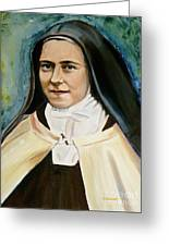 St. Therese Greeting Card by Sheila Diemert