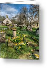 St Tysilio Graveyard Greeting Card by Adrian Evans