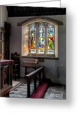 St Tysilio Window  Greeting Card by Adrian Evans