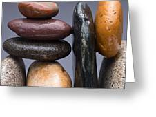 Stacked Stones 2 Greeting Card by Steve Gadomski