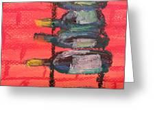 Stacks Of Red Greeting Card by Steve Jorde