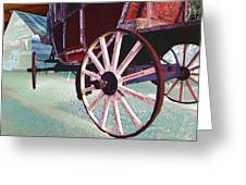 Stage Coach 1 Greeting Card by Kae Cheatham