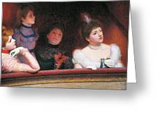 Stage Or Au Theatre Greeting Card by Federico Zandomeneghi