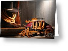 Stagecoach Dream Greeting Card by Olivier Le Queinec