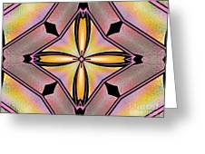 Stained Glass 6 Greeting Card by Cheryl Young