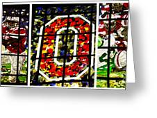 Stained Glass At The Horseshoe Greeting Card by David Bearden