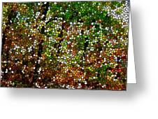 Stained Glass Autumn Colors In The Forest 1 Greeting Card by Lanjee Chee