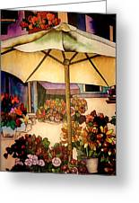 Stained Glass Italy Greeting Card by Paulette Thomas