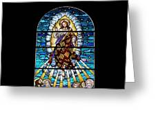 Stained Glass Pc 02 Greeting Card by Thomas Woolworth