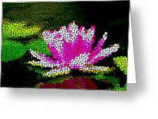 Stained Glass Pink Lotus Flower   Greeting Card by Lanjee Chee