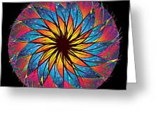 Stained Glass Greeting Card by Robert Conway