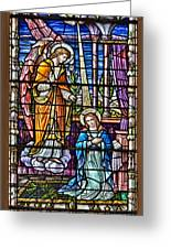 Stained Glass Greeting Card by Susan Candelario