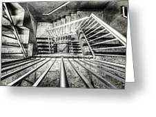 Staircase I Greeting Card by Everet Regal