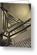 Stairing Up The Spinnaker Tower Greeting Card by Terri  Waters