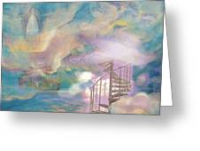 Stairway To Heaven Greeting Card by Anne Cameron Cutri
