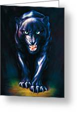 Stalking Panther Greeting Card by Andrew Farley