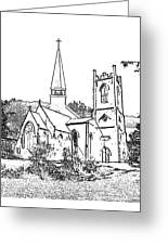 Stamp Of Churches Greeting Card by Vicky  Hutton