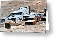 Standard Mill At Bodie Panorama Greeting Card by Barbara Snyder