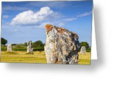 Standing Stones Lagatjar Camaret Sur Mer Brittany France Greeting Card by Colin and Linda McKie