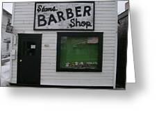 Stans Barber Shop Menominee Greeting Card by Jonathon Hansen