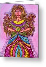 Star Angel Greeting Card by Gerri Rowan