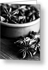 Star Anise Dish Greeting Card by Anne Gilbert