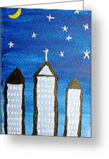 Star City Greeting Card by Will Boutin Photos