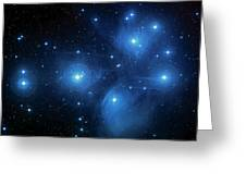 Star Cluster Pleiades Seven Sisters Greeting Card by The  Vault - Jennifer Rondinelli Reilly