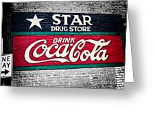 Star Drug Store Wall Sign Greeting Card by Scott Pellegrin