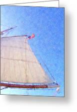 Star Of India. Flag And Sail Greeting Card by Ben and Raisa Gertsberg