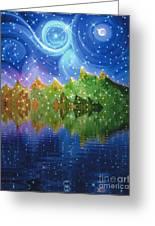 Starfall Greeting Card by First Star Art