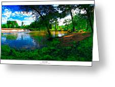 Starrs Mill 360 Panorama Greeting Card by Lar Matre