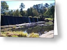 Starrs Mill Waterfall  Greeting Card by Jake Hartz