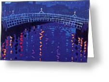 Starry Night In Dublin Greeting Card by John  Nolan