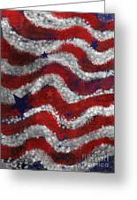 Starry Stripes Greeting Card by Carol Jacobs