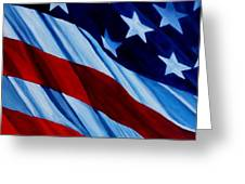 Stars And Bars Greeting Card by Julie Brugh Riffey