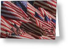 Stars And Stripes - Remembering Greeting Card by Jack Zulli