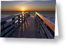 Stars On The Boardwalk Greeting Card by Debra and Dave Vanderlaan